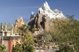 Expedition Everest ride at Disney World.
