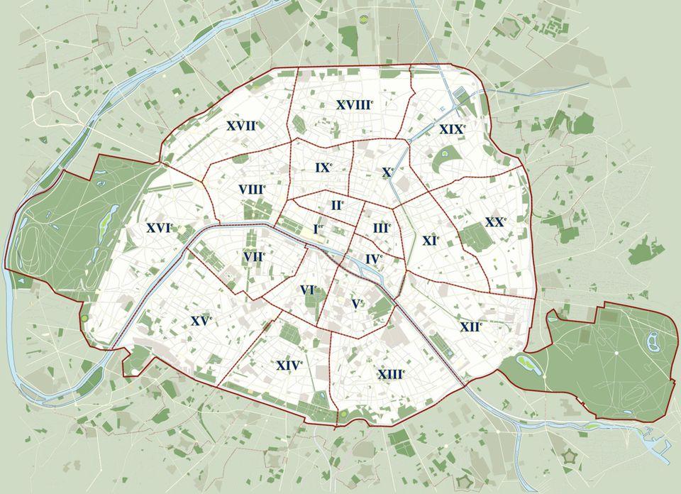 Paris Arrondissement Diagram