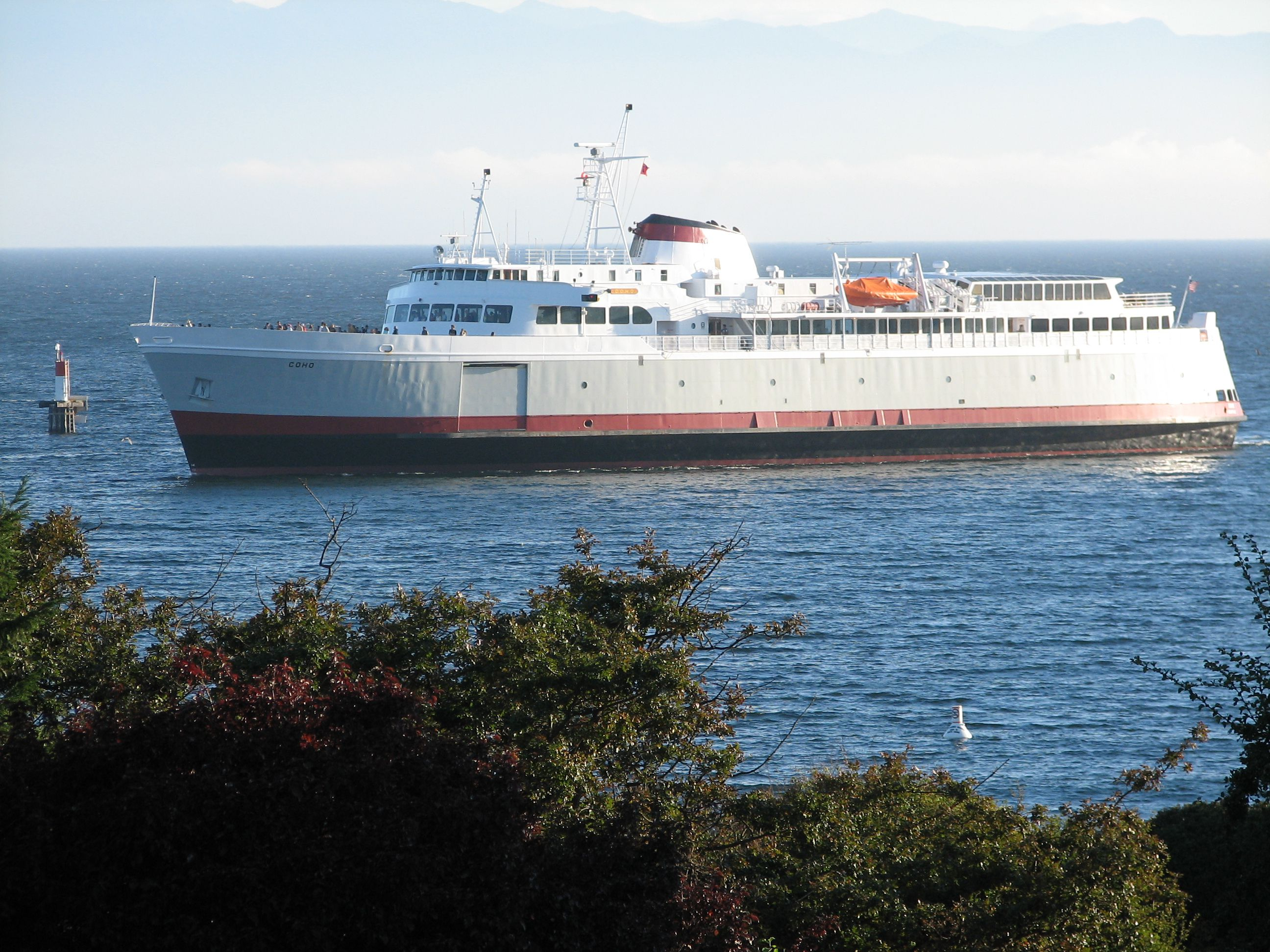 The Coho ferry arrives from Port Angeles in Washington.