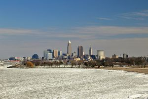 Cleveland in winter