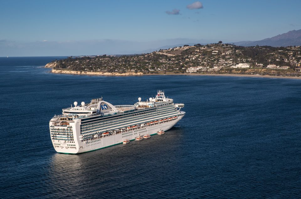 The Ruby Princess in Santa Barbara
