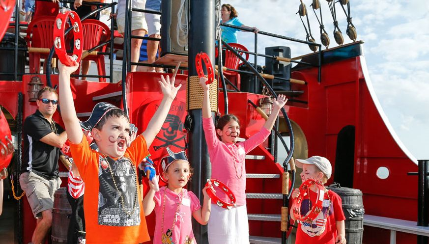 Captain Memo Pirate Ship Guests