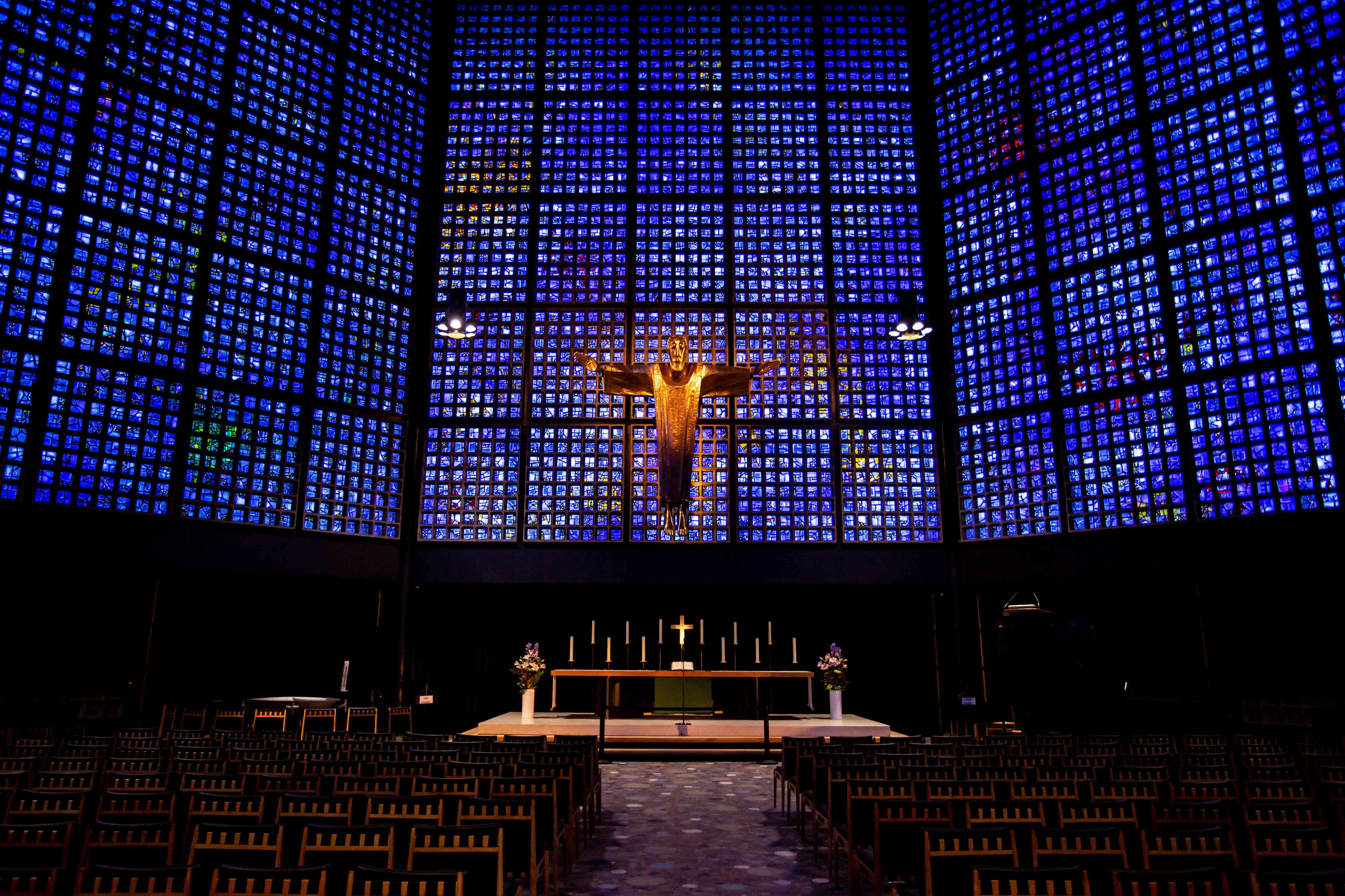 The new interior of the Memorial Church in berlin