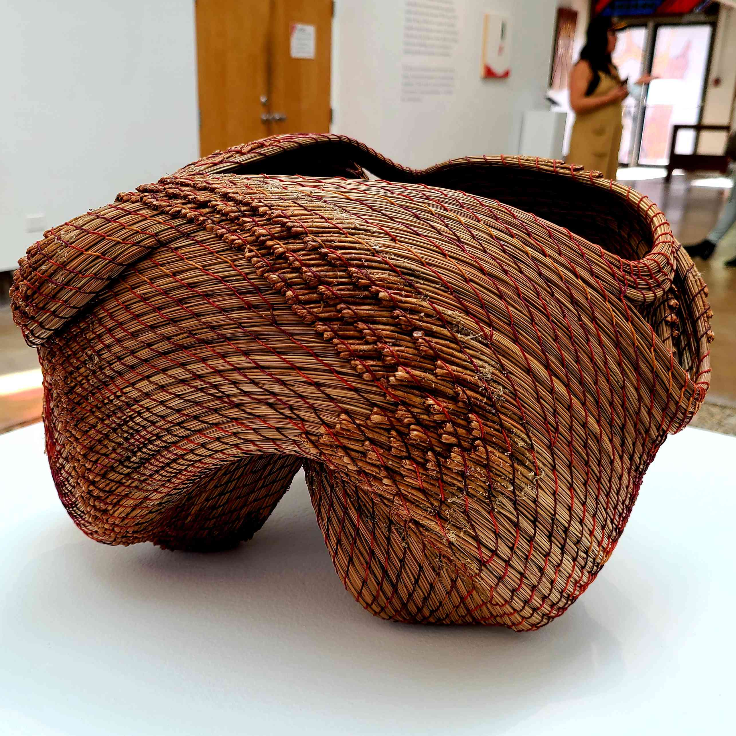 A complex basket created by artists at Arrowmont in Gatlinburg, Tennessee