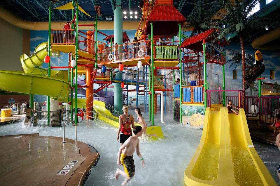 Key Lime Cove indoor water park in Illinois.