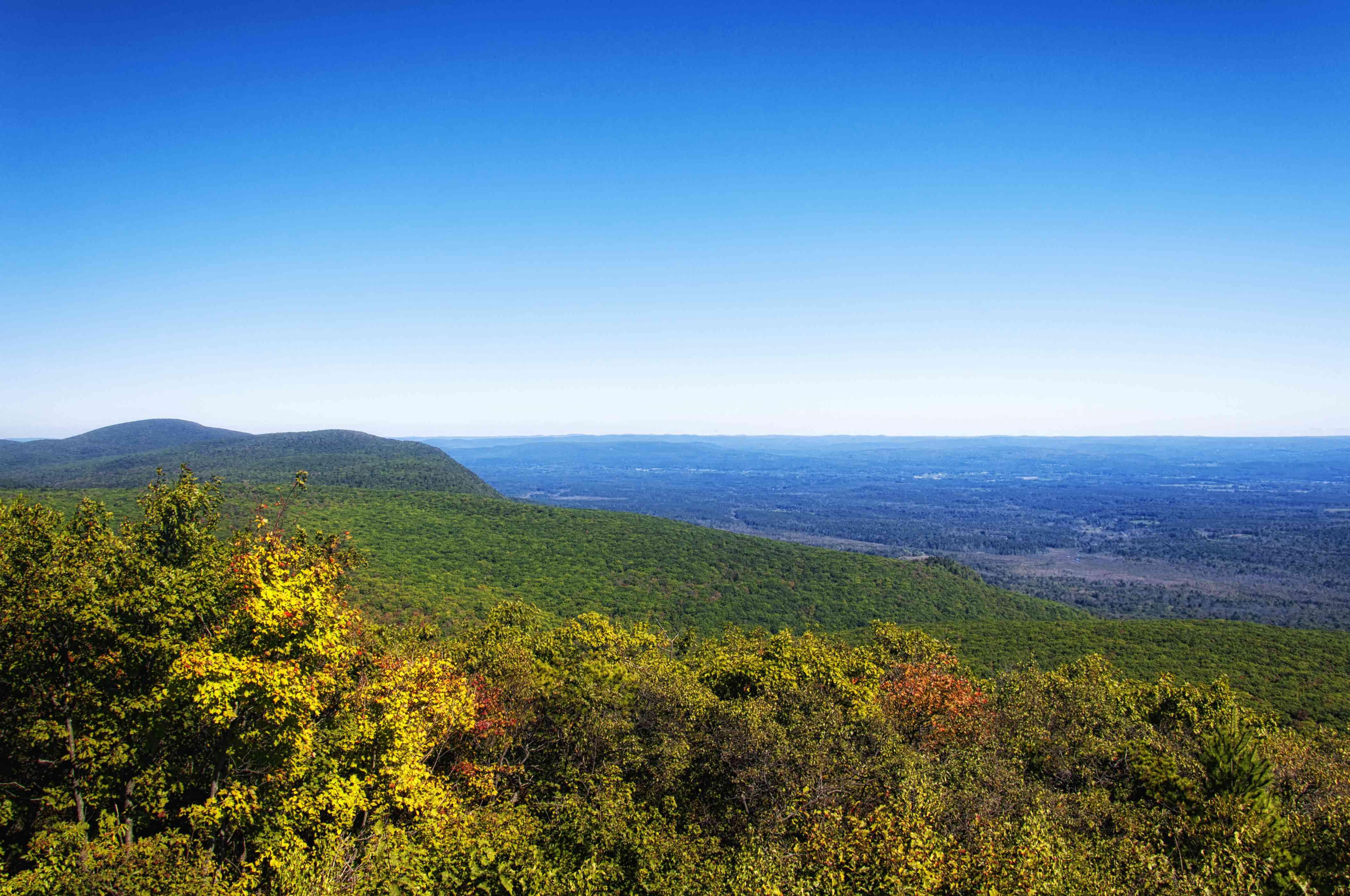 Connecticut and Massachusetts Autumn Landscape