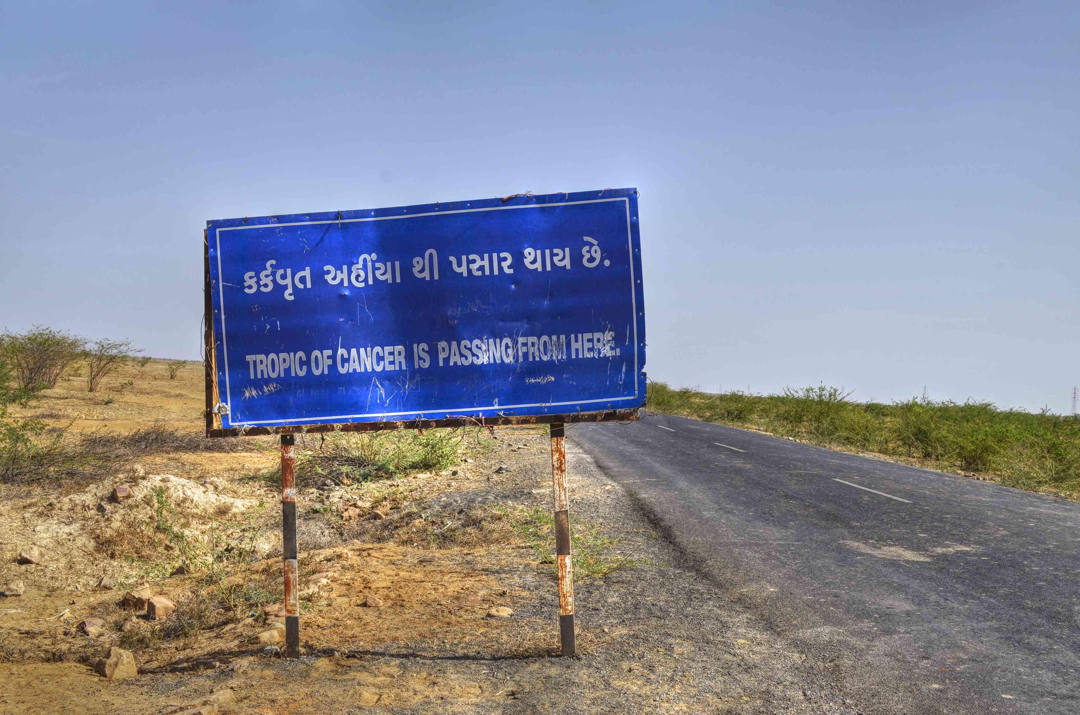 Tropic of Cancer. Kutch, Gujarat.