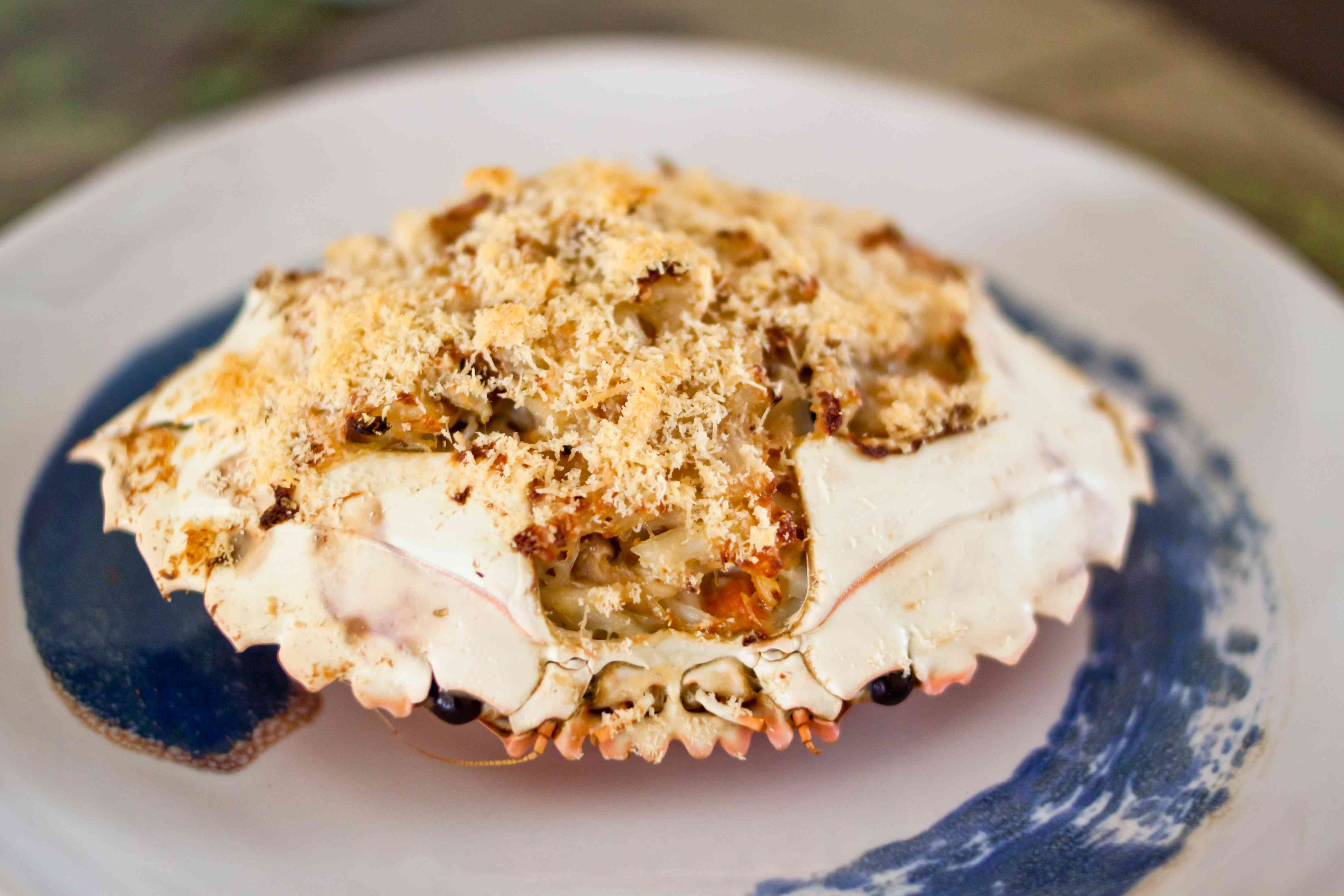 Baked stuffed crab shell