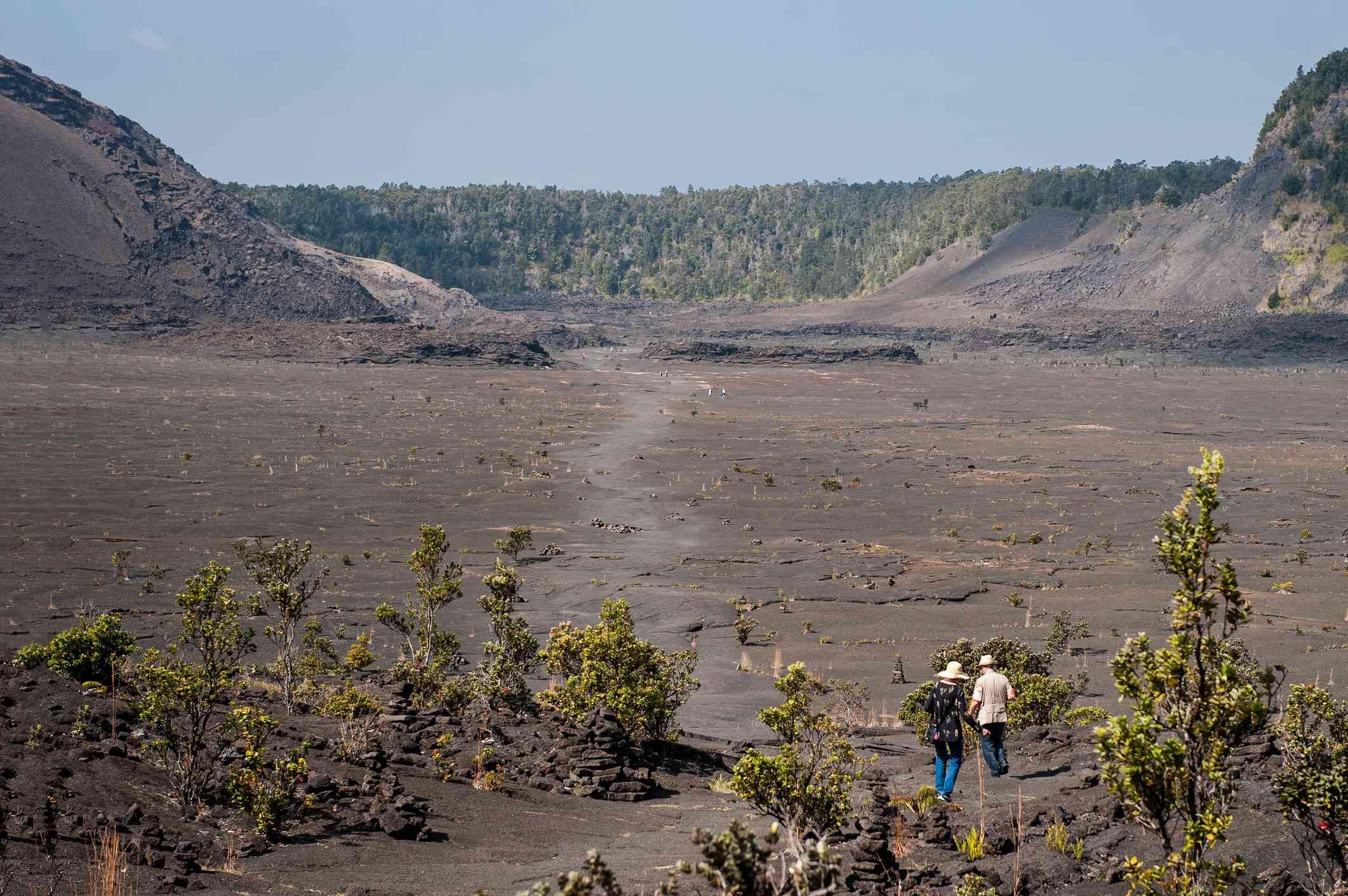 Kilauea Iki Crater in Hawaii Volcanoes National Park