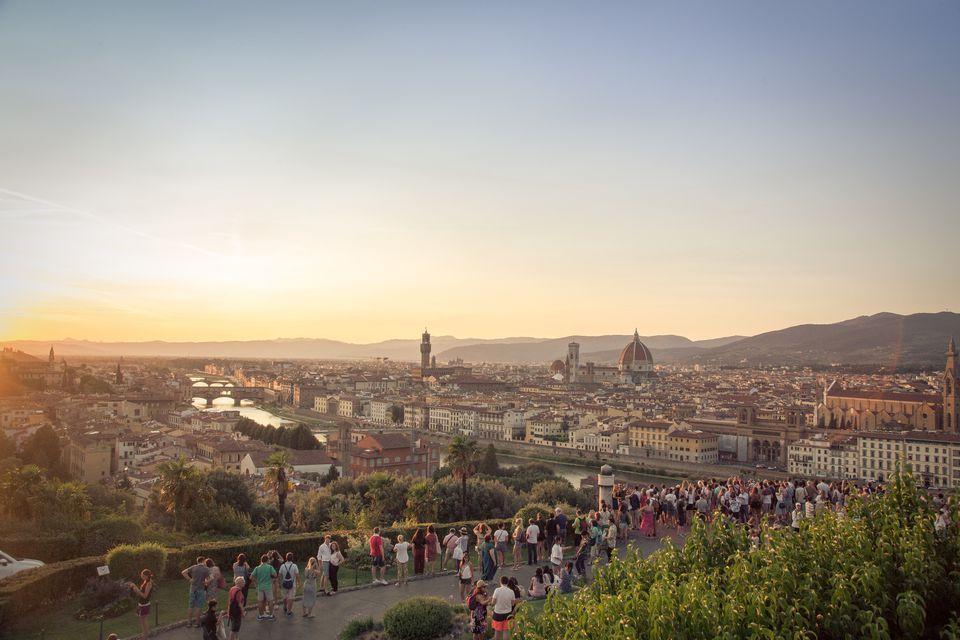 Piazzale Michelangelo overlook of Florence