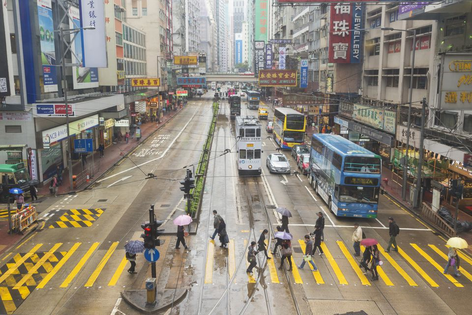 Hong Kong, China. Hennessy Road, Causeway Bay.