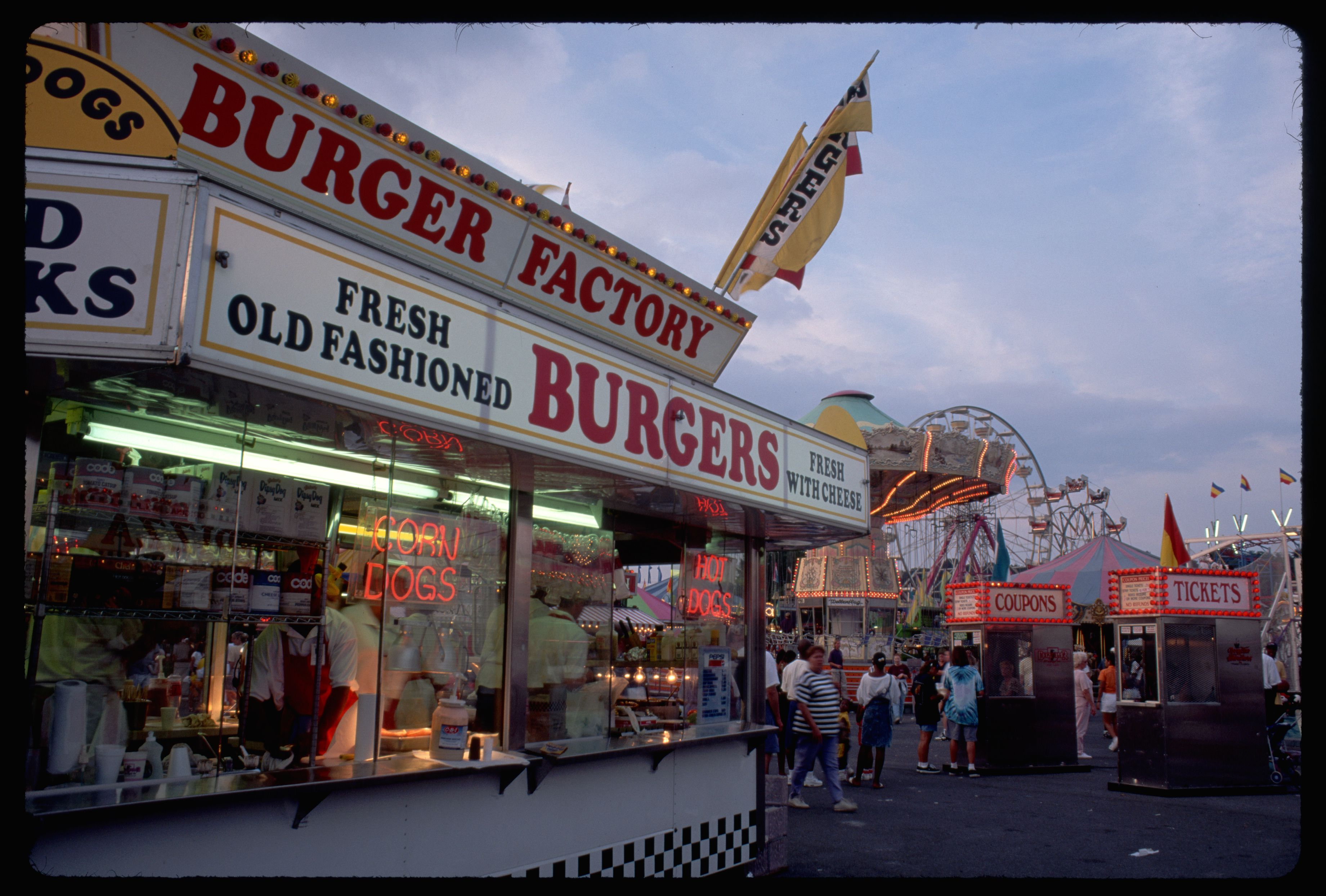 Burger stand at Maryland State Fair