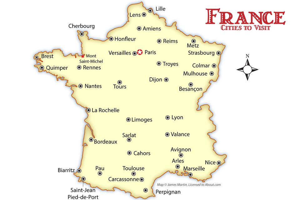 Cities Of France Map.France Cities Map And Travel Guide
