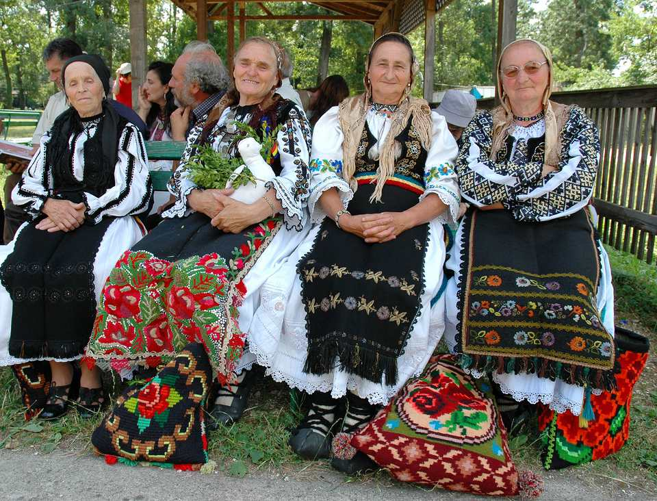 Folk women in Timisoara, Romania