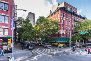 Harlem neighborhood, Manhattan. At the corner of Frederick Douglass