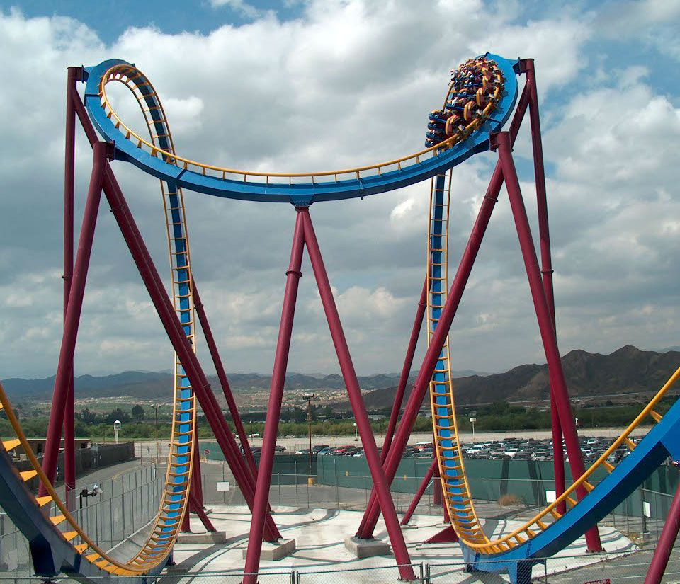 Scream coaster at Six Flags Magic Mountain.
