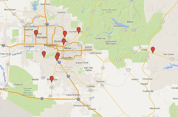 Map Of Arizona I40.Arizona Highway Rest Areas Locations And Map