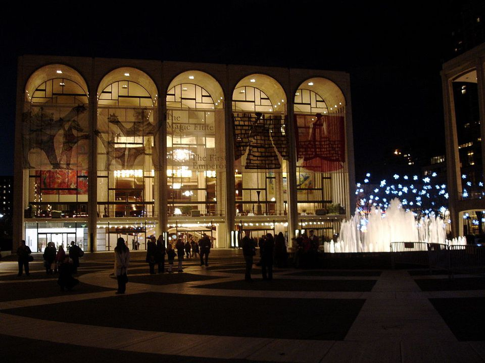 Lincoln Center NYC en la noche