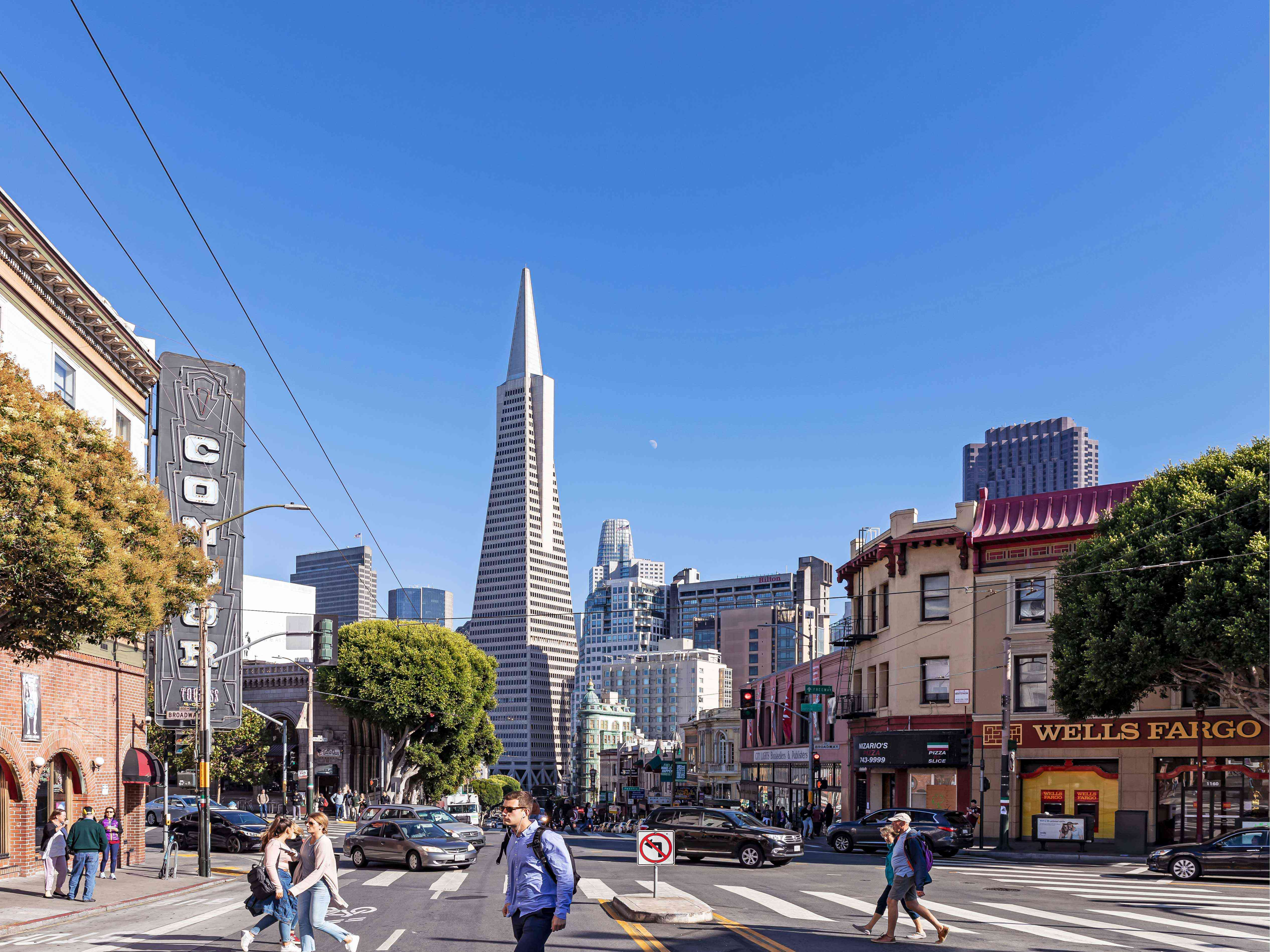 Broadway and Columbus in San Francisco