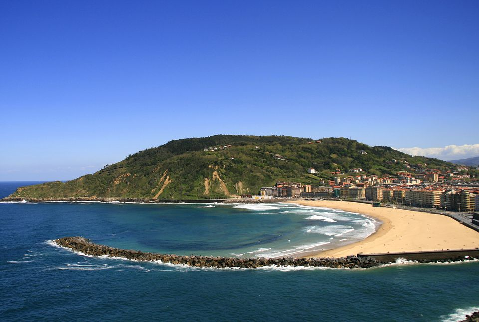 A view of San Sebastian beach in Spain