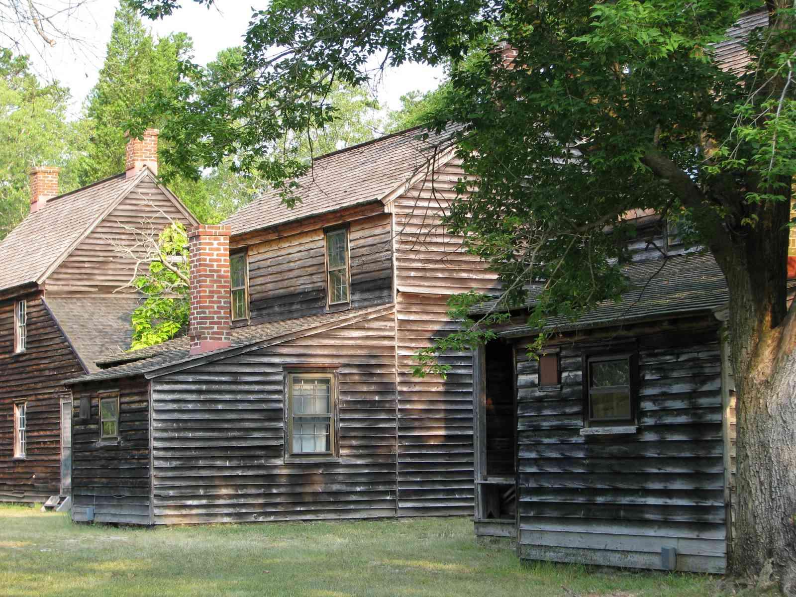 Historical wooden houses in Batsto Village