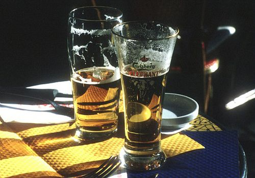 Who says Paris is all about beer and coffee? Beer is another popular beverage.