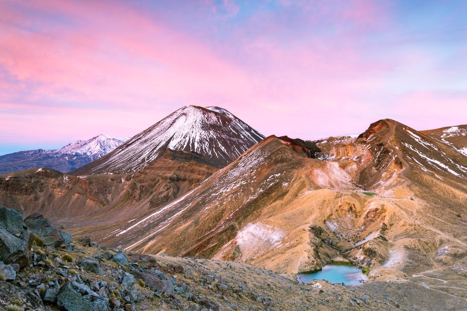 Landscape with volcano, Tongariro, New Zealand