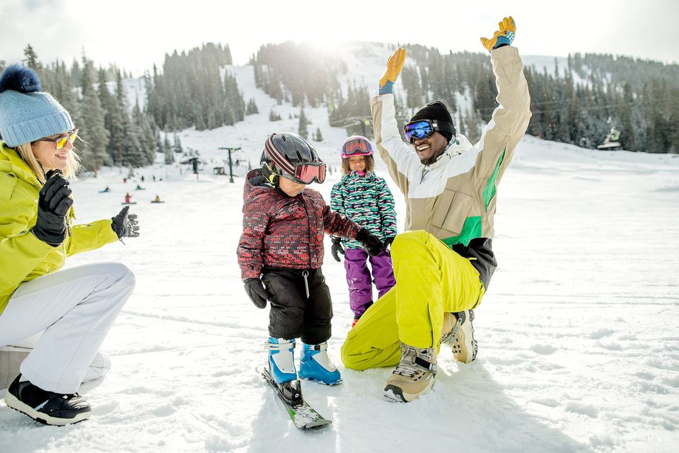 Family skiing adventure in Colorado