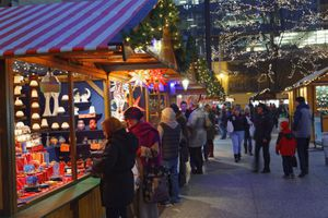 The annual Christkindlmarket Chicago in Daley Plaza.