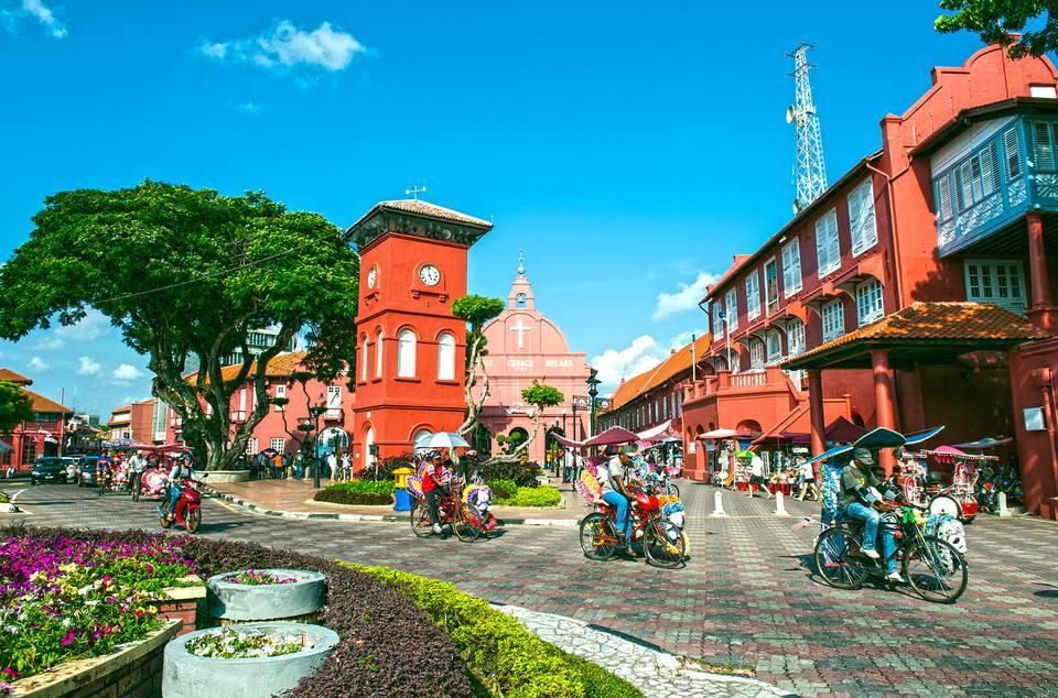 Plaza holandesa, Melaka, Malasia