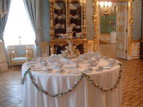 Tea Setting in the Grand Palace at Peterhof