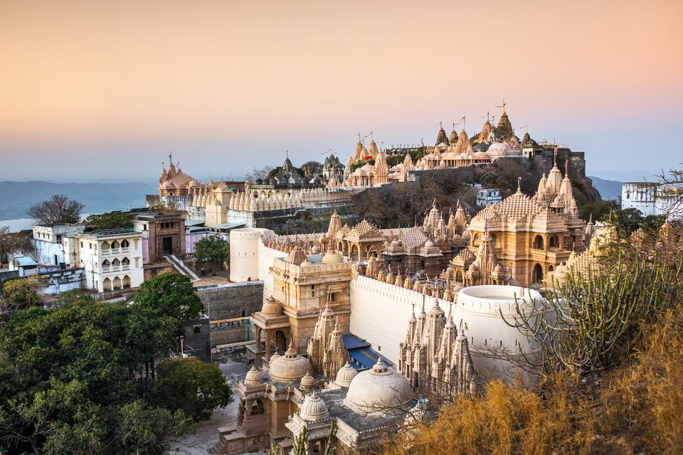 Jain temples on top of Shatrunjaya hill