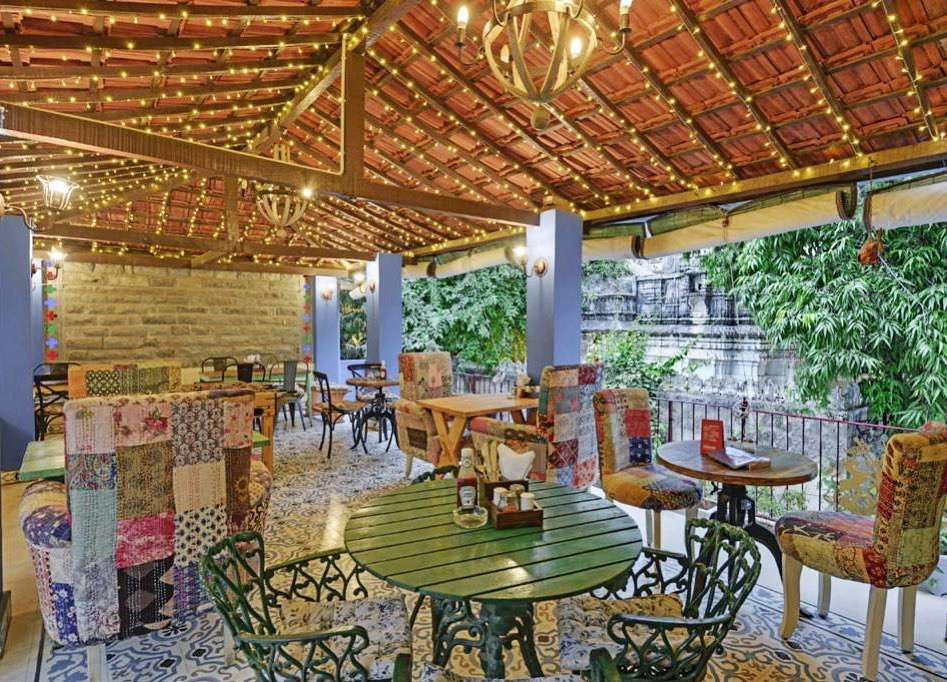 eclectic furniture at Oladar Village restaurant and cafe