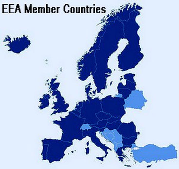 Member Countries Of The European Economic Area Eea
