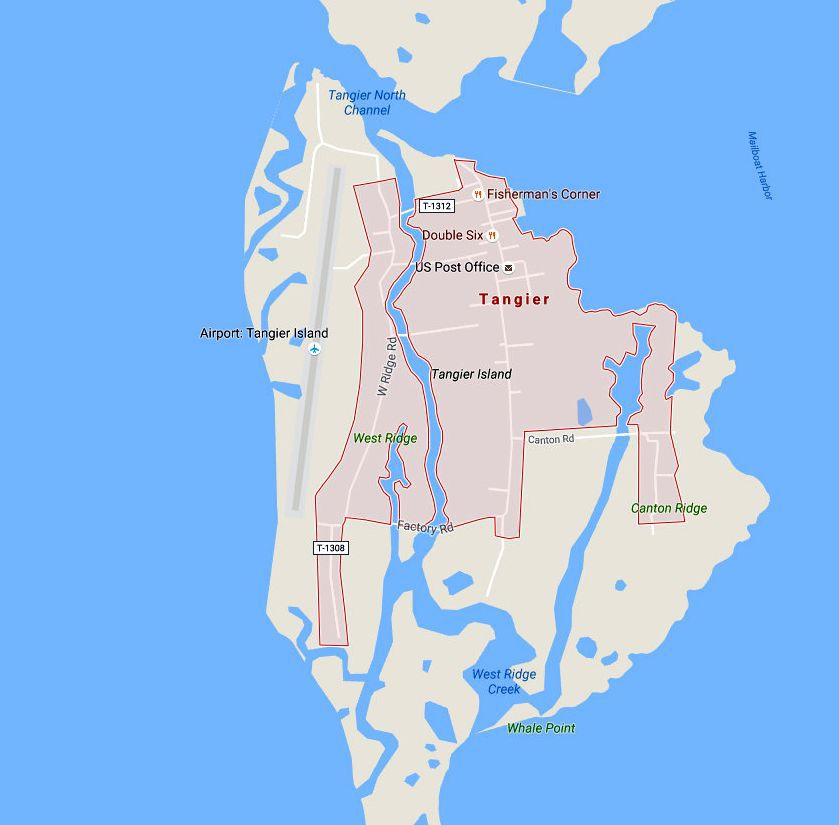 Tangier Island Virginia Map.Maps And Driving Directions For The Virginia Eastern Shore