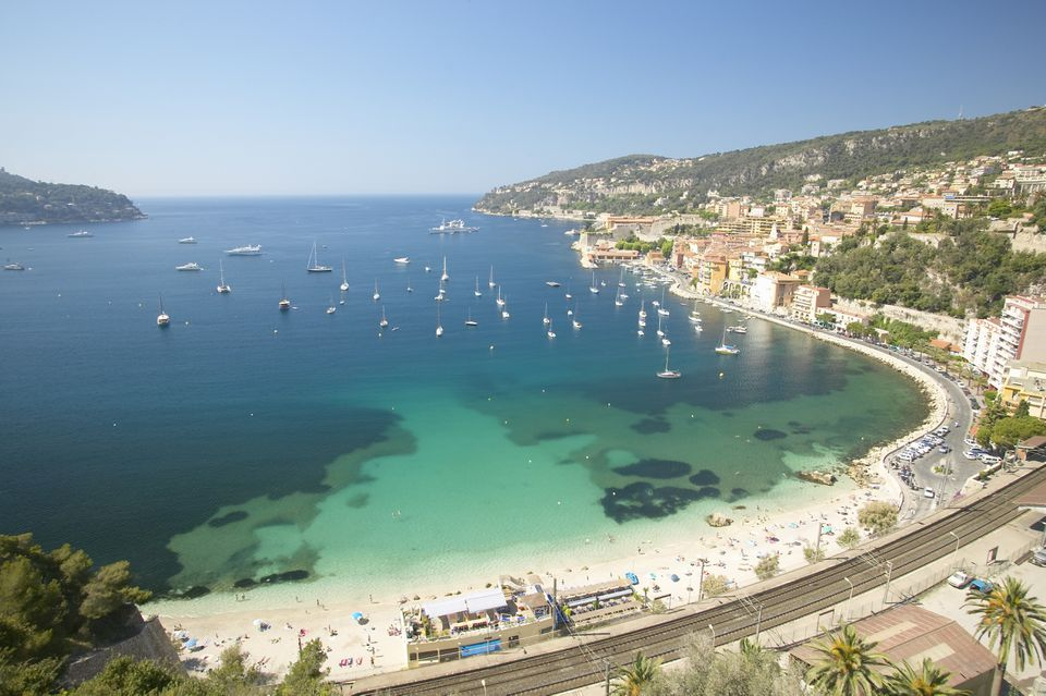 France, Nice, Miediteranean sea and beach