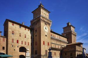The Castello Estense (Este Castle) in Ferrara, Emilia Romagna, Italy