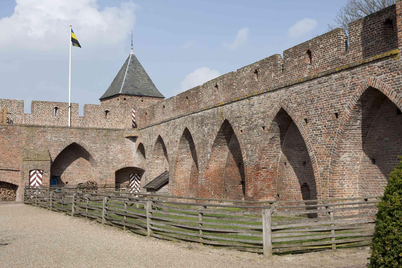 Courtyard castle Doornenburg (the Netherlands)