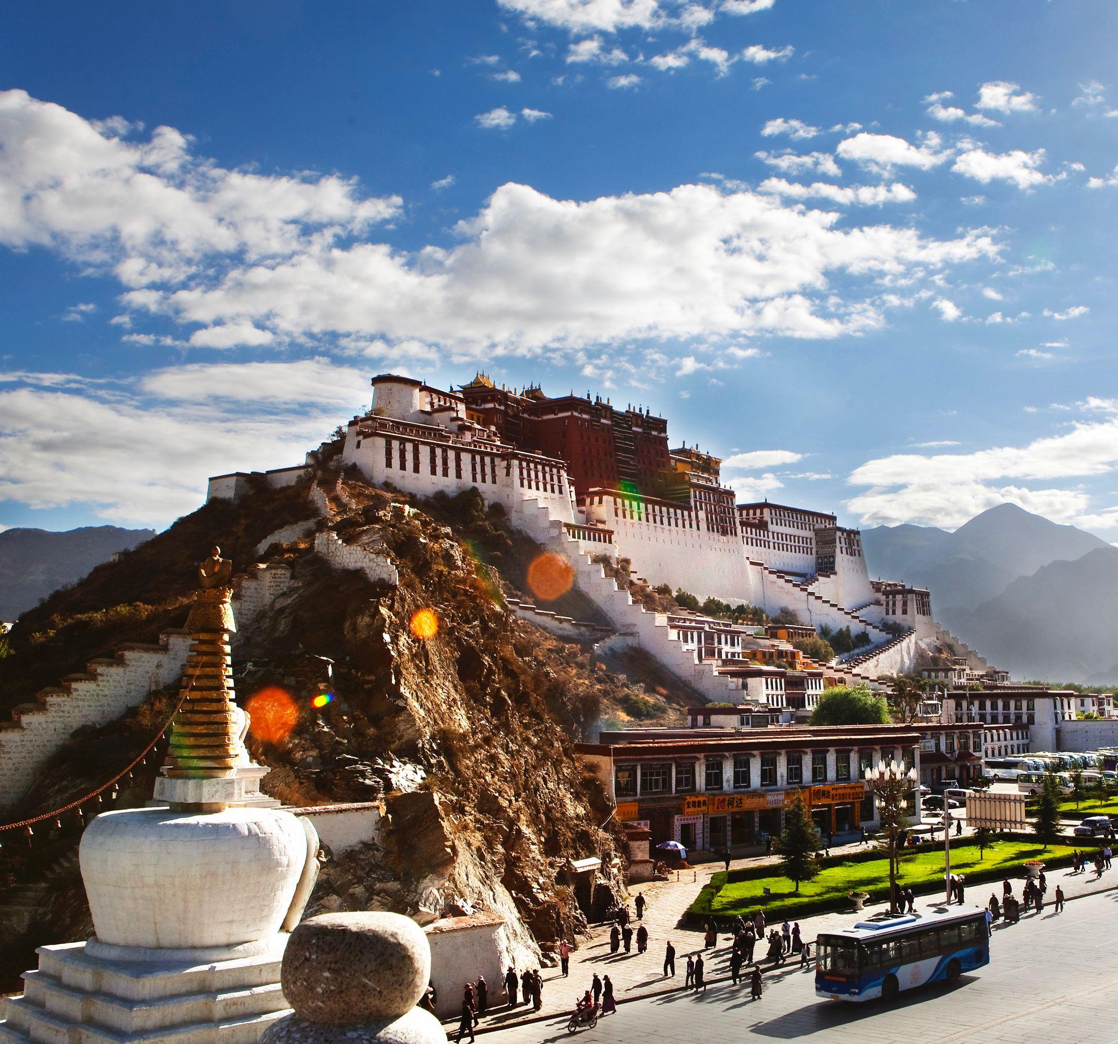 Dalai Lama's Potala Palace in Tibet