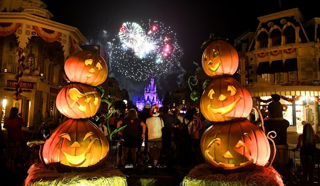Fireworks on Halloween at Disney