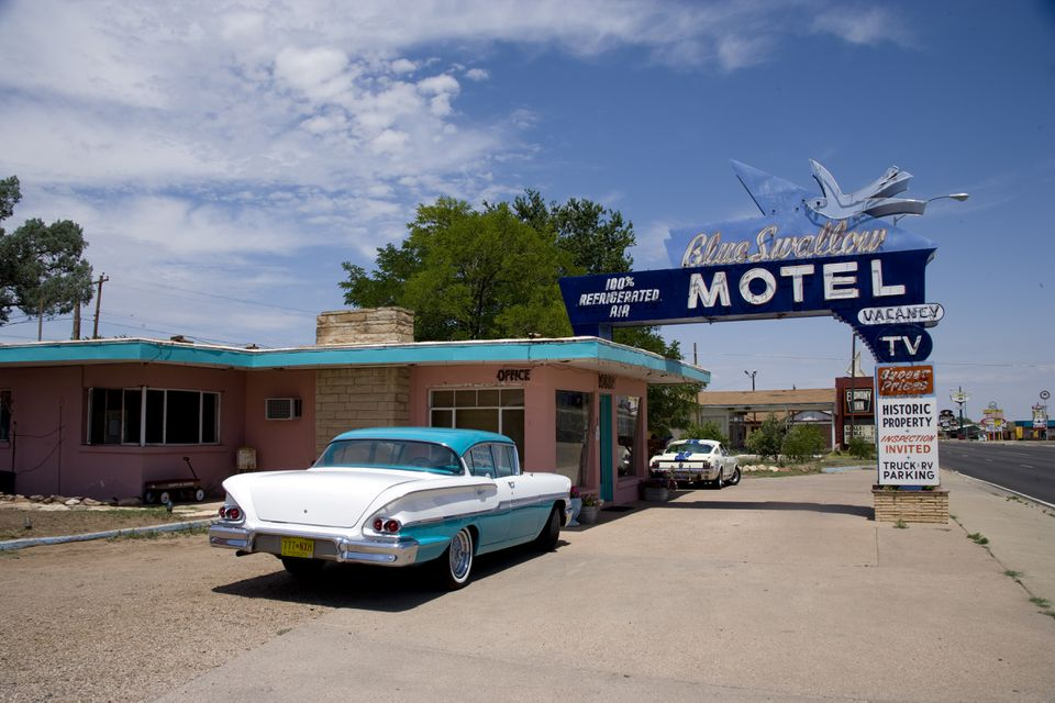 Blue Swallow Motel, Route 66, Tucumcari, New Mexico