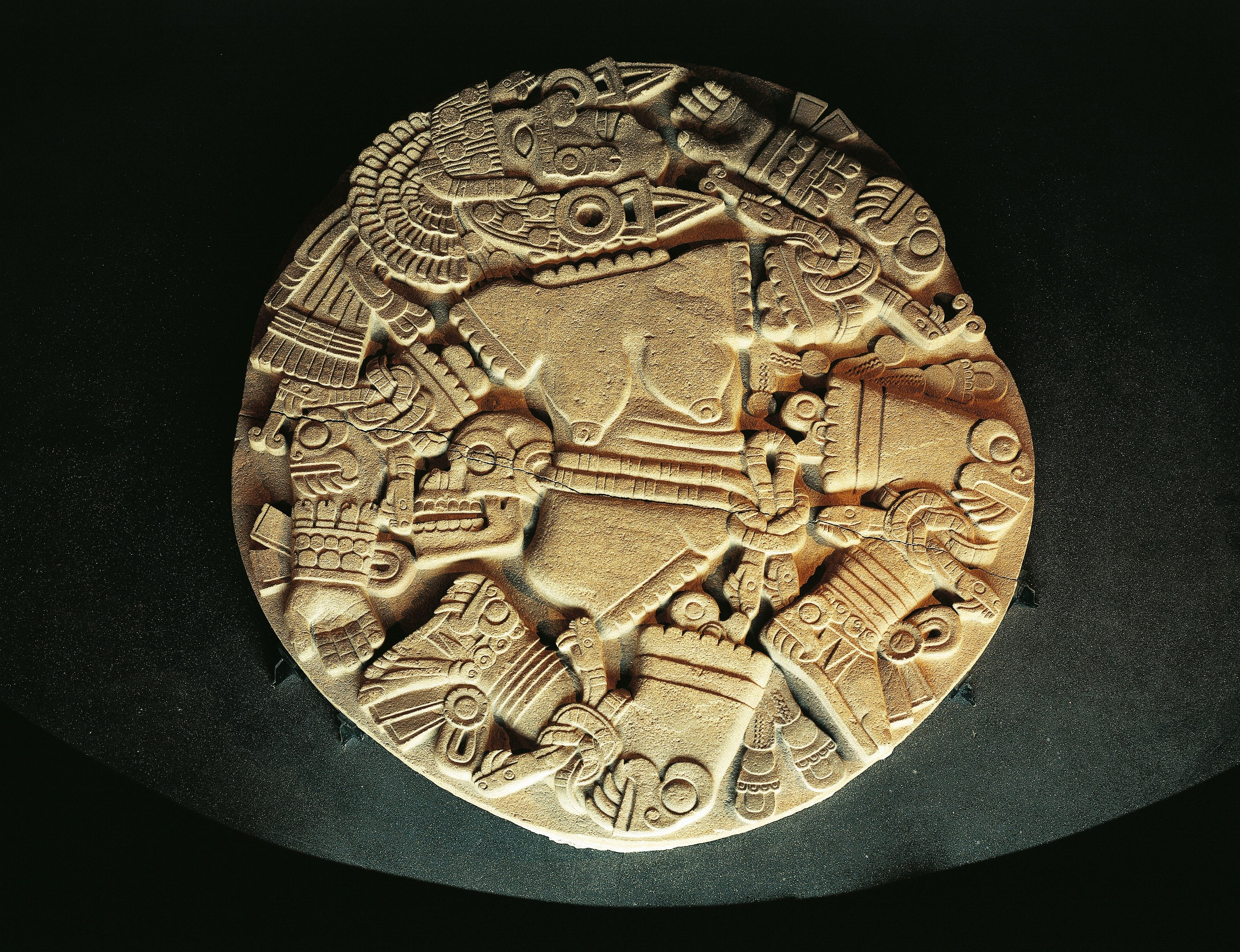 Carving of the Aztec goddess Coyolxauhqui
