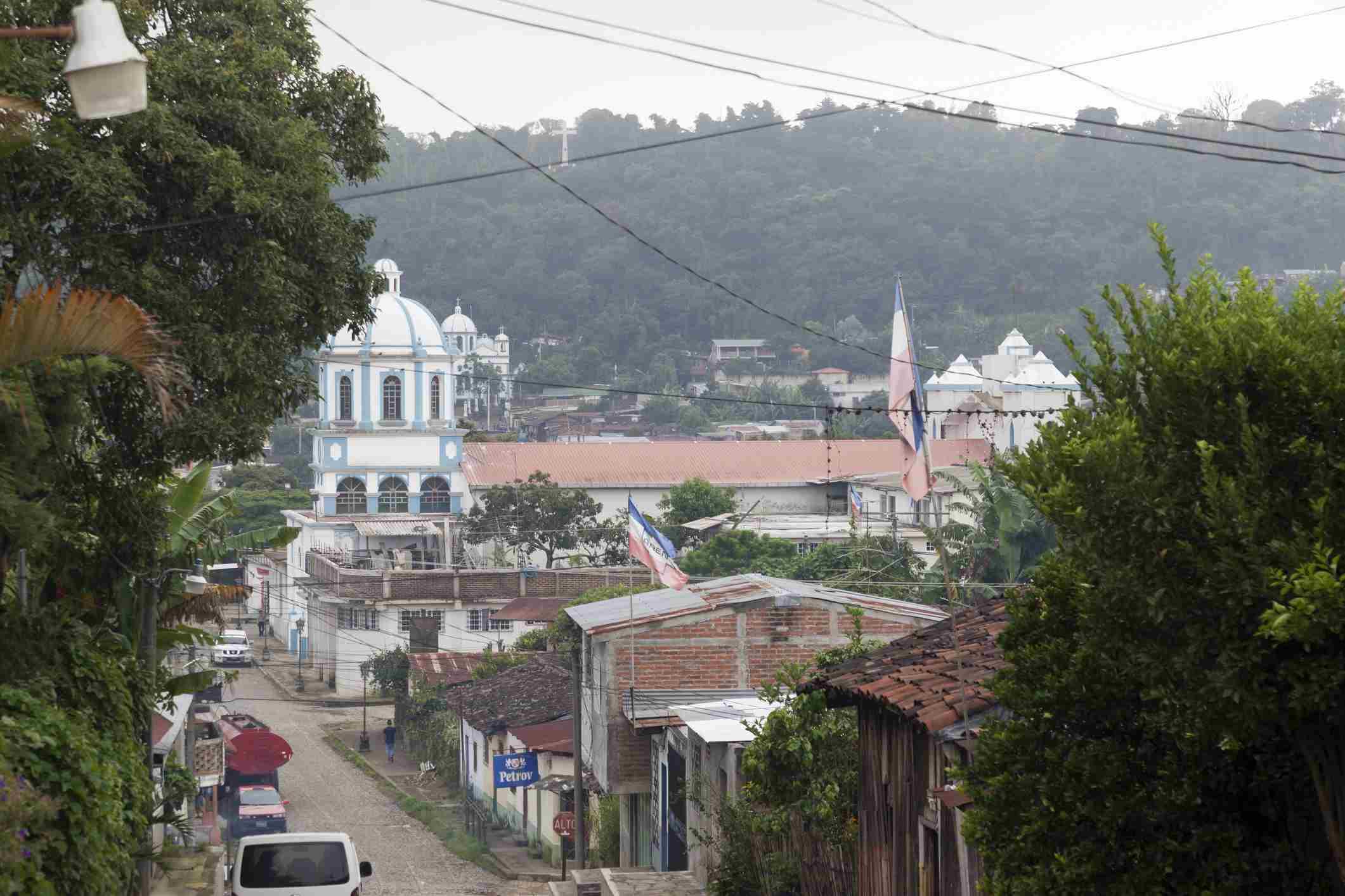 Concepcion de Ataco, El Salvador on a hazy day