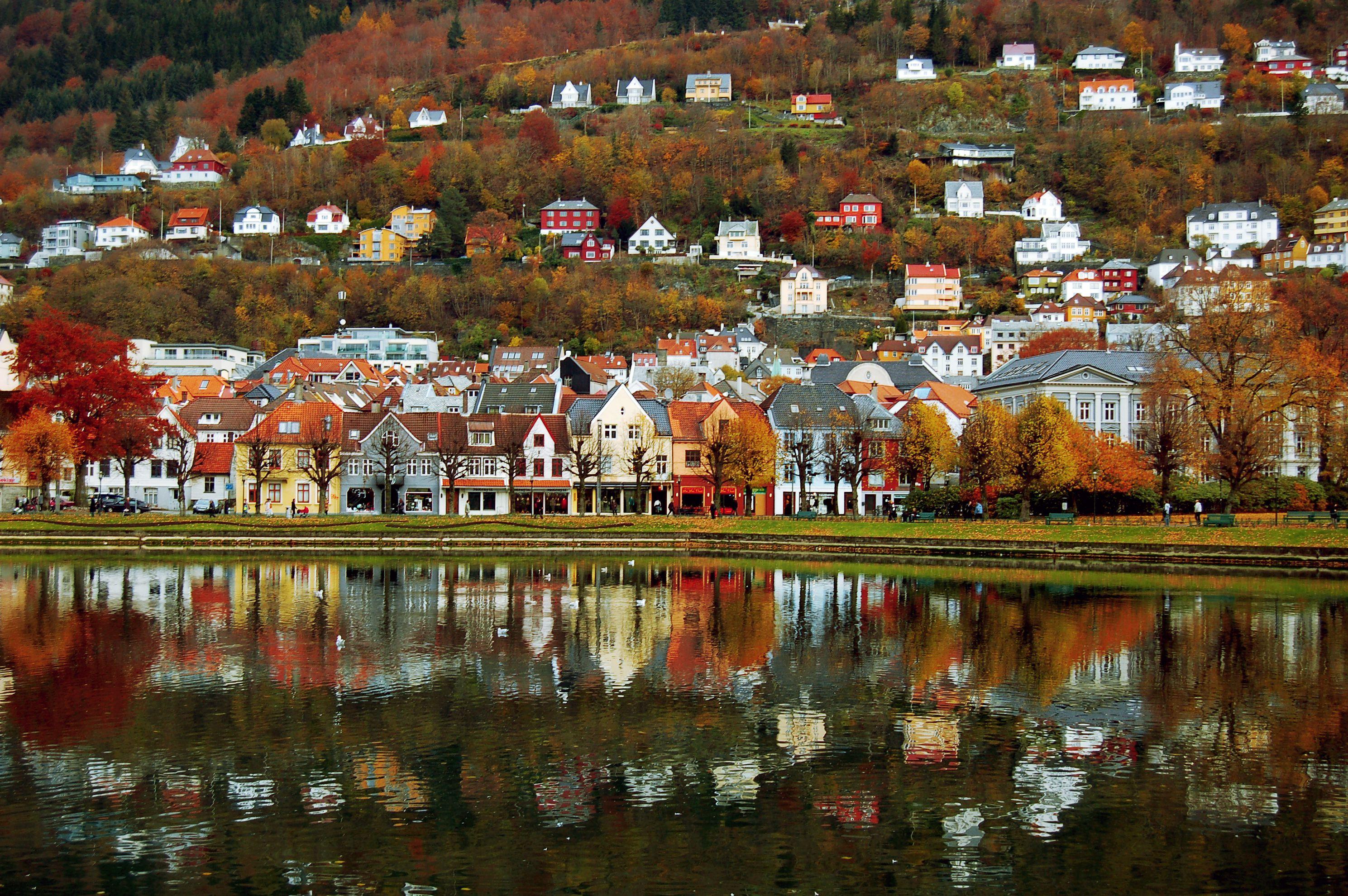 Lille Lungegårdsvann, Bergen, Norway