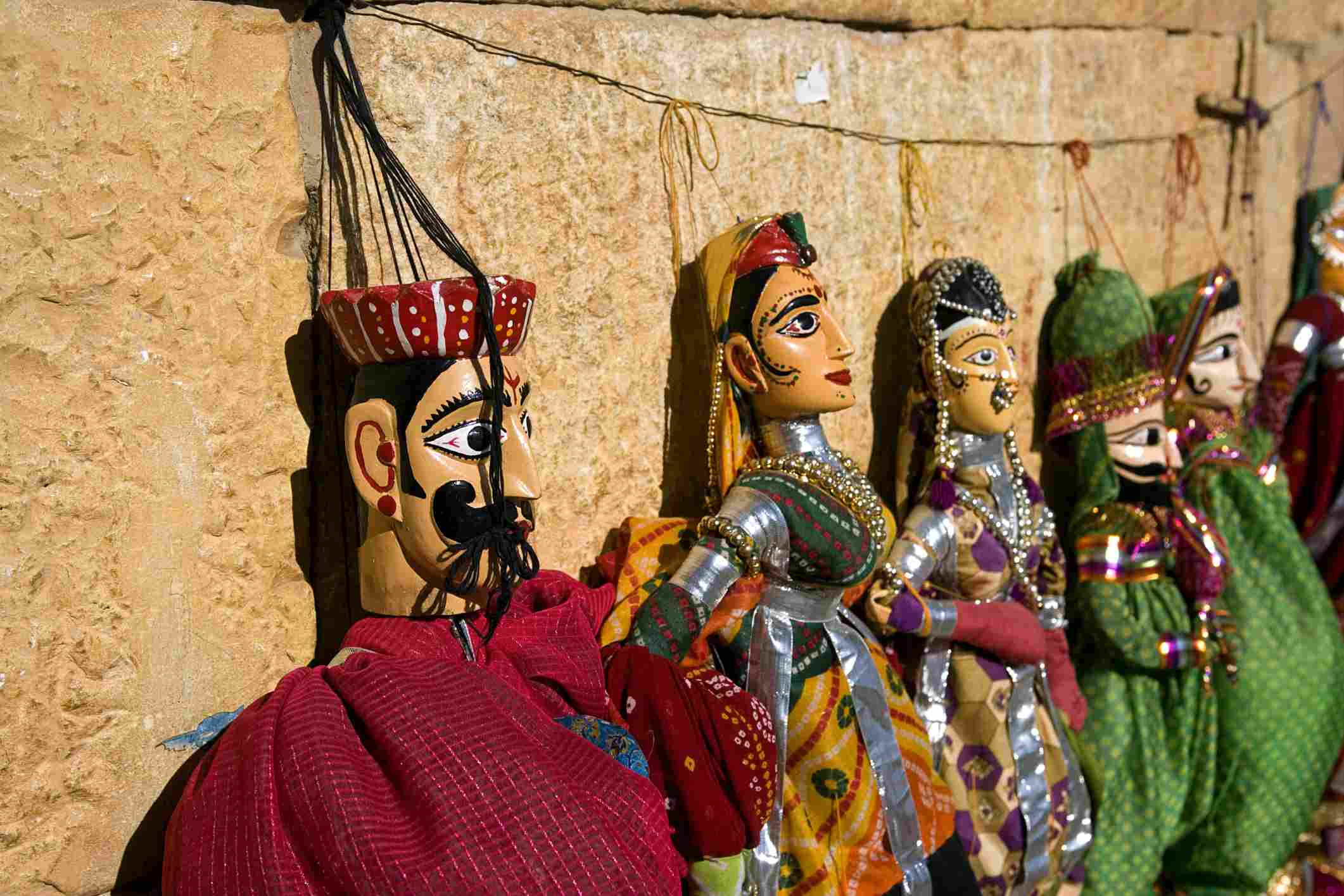 Rajasthan puppets in Jaisalmer, India