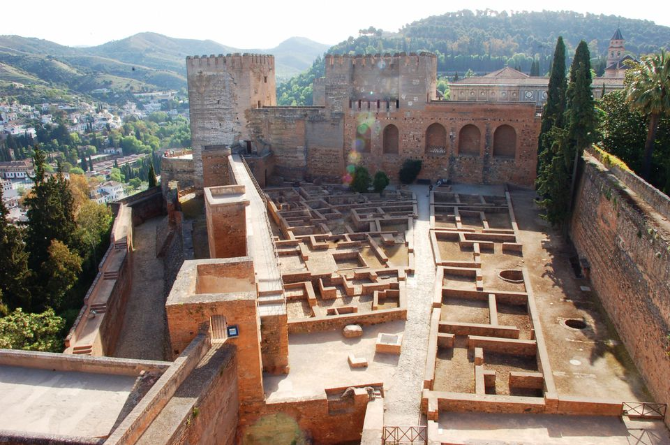 Looking down on the maze in the Alhambra
