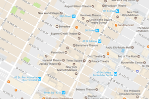 Map of Times Square, New York City
