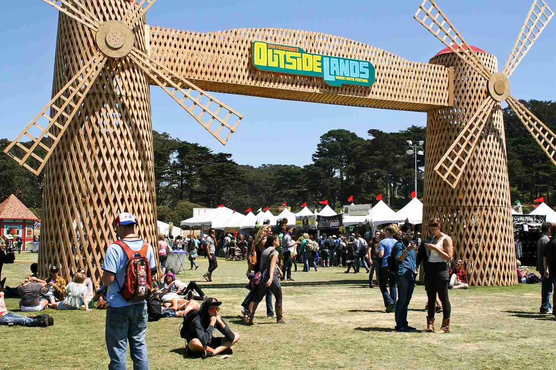 Outside Lands entrance at Golden Gate Park