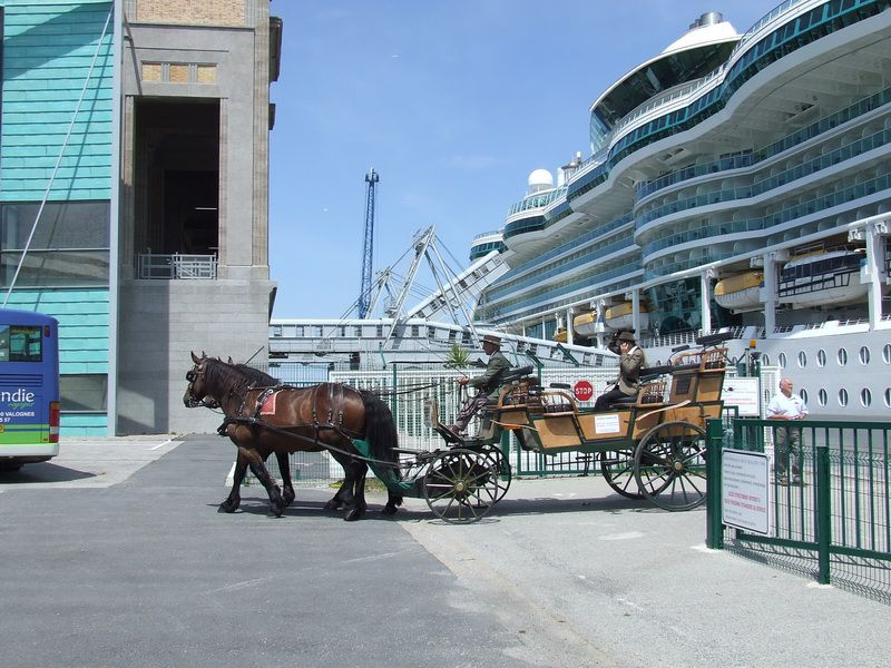 Carriage Rides on the Pier in Cherbourg