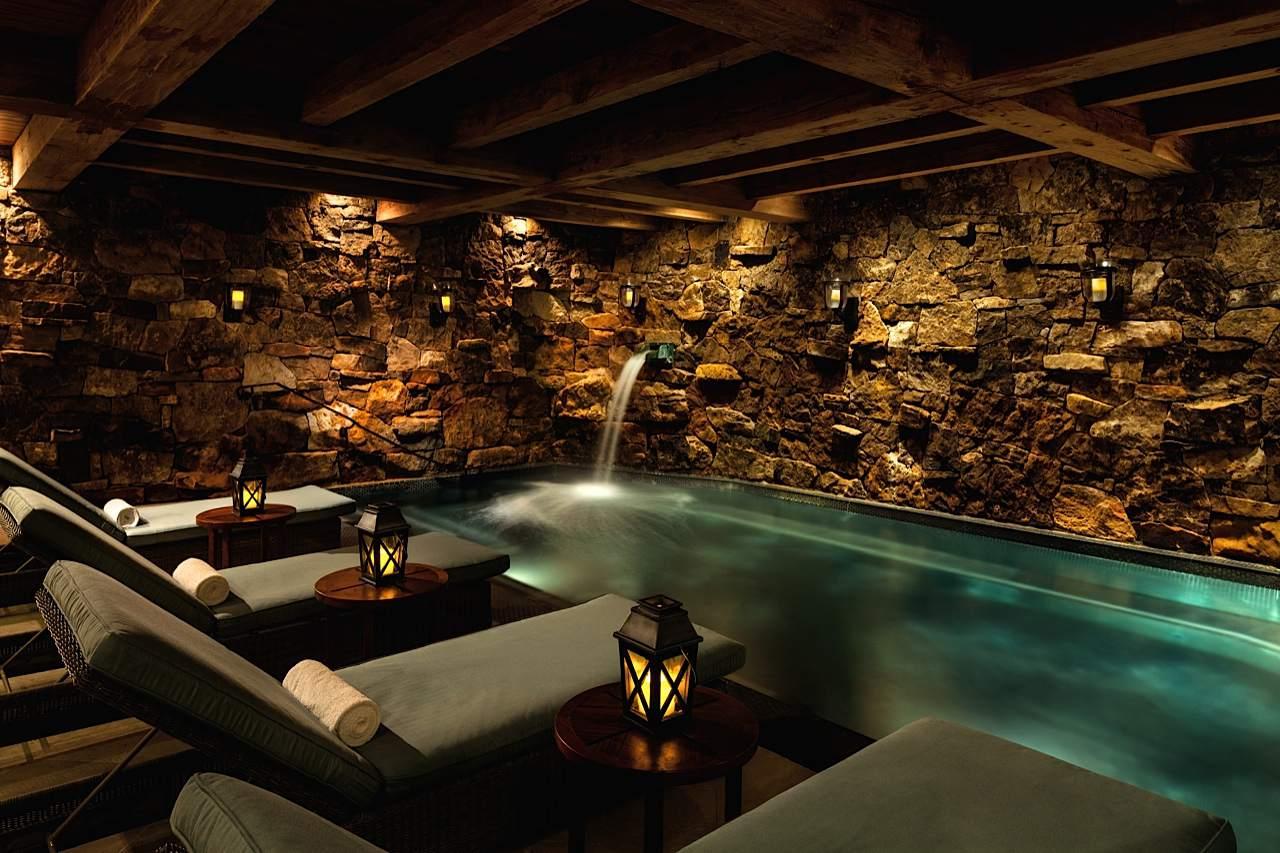 Spa grotto at Ritz-Carlton Bachelor Gulch in the Colorado Rockies